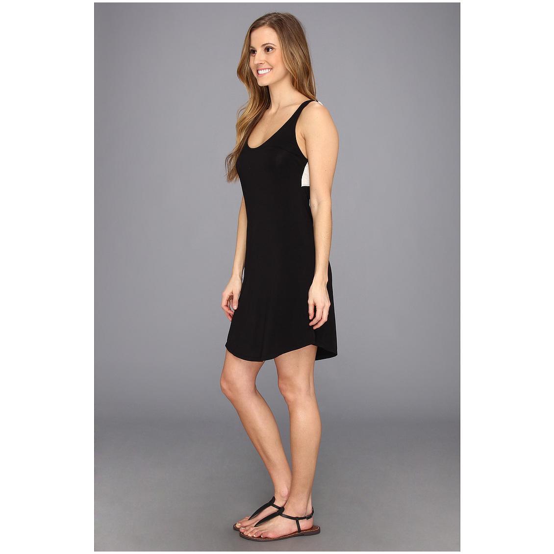 model boyish dress pendek tanpa lengan hitam simpel
